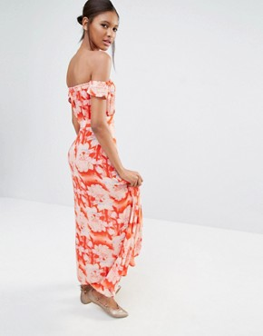 photo Bella Floral Print Maxi Dress by Flynn Skye, color Red - Image 2