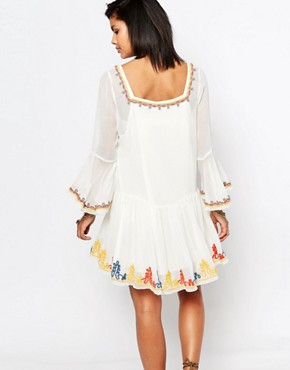 photo Creseda Embroidered Dress by Tularosa, color Butter - Image 2
