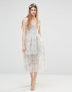 photo Wedding Freesia Layered Dress by Body Frock, color Silver - Image 1