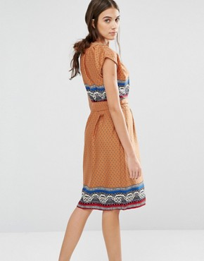photo Elastic Fantastic Ditsy Print Dress by Trollied Dolly, color Orange - Image 2