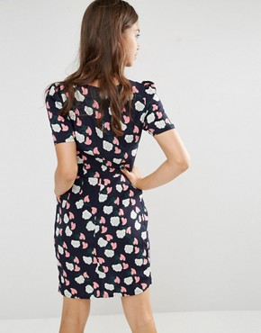 photo It'S Bowtime Dress by Trollied Dolly, color Navy - Image 2