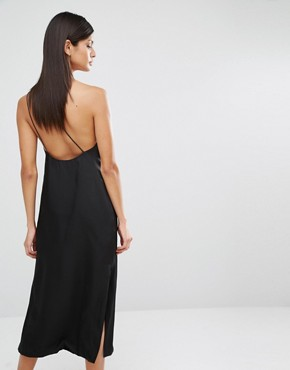 photo Strap Detail Slip Dress by Finders Keepers, color Black - Image 2