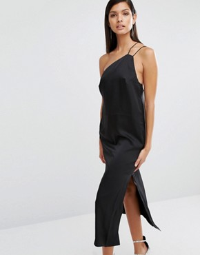 photo Strap Detail Slip Dress by Finders Keepers, color Black - Image 1