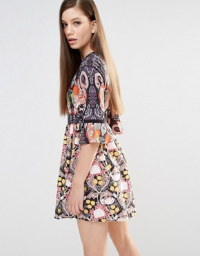 photo Flamingo Dress by Comino Couture, color Flamingo Print - Image 2