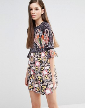 photo Flamingo Dress by Comino Couture, color Flamingo Print - Image 1