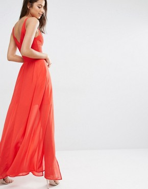 photo Bandage Strappy Maxi Dress by Missguided Premium, color Red - Image 2
