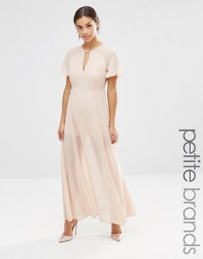 photo Flutter Sleeve Maxi Dress by Vero Moda Petite, color Rose Dust - Image 1