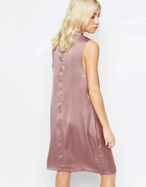 photo Shift Dress with Pussybow by Neon Rose, color Mink - Image 2