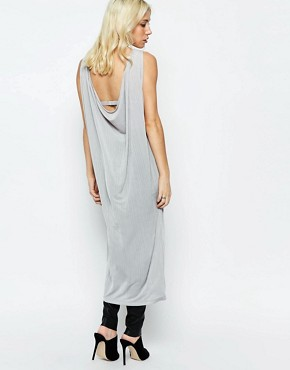 photo Crinkle Dress with Cowl Back by Neon Rose, color Grey - Image 1