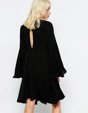 photo Flared Dress by Neon Rose, color Black - Image 2