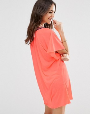 photo Mini Abaya Sundress by Pitusa, color Coral - Image 2