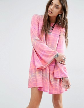 photo Swing Dress with Bell Sleeve and Scoop Back by Rokoko, color Pink - Image 2