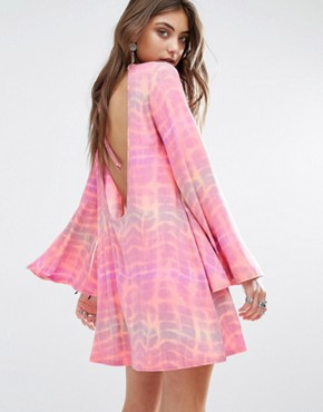 photo Swing Dress with Bell Sleeve and Scoop Back by Rokoko, color Pink - Image 1