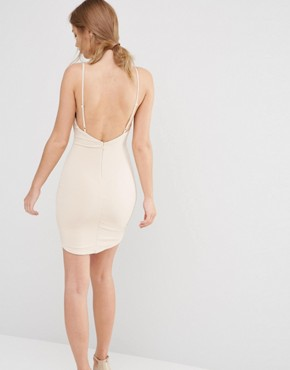 photo Ladder Front Mini Dress by Ginger Fizz, color Nude - Image 2
