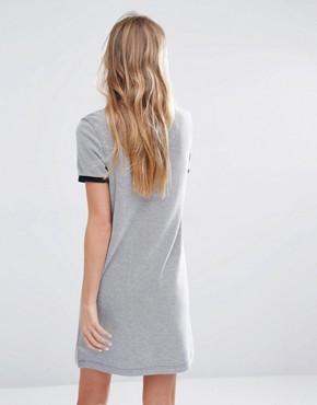 photo Stripe Collar Polo Dress by Fred Perry, color Grey - Image 2