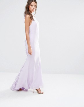 photo Maxi Dress with Ruffle Back Detail by Jarlo Tall, color Mauve - Image 2