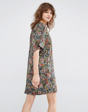 photo Manganese Kimono Sleeve Mini Dress by Essentiel Antwerp, color Multi - Image 2