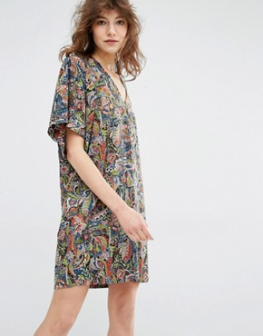 photo Manganese Kimono Sleeve Mini Dress by Essentiel Antwerp, color Multi - Image 1