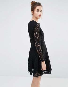 photo Oronte Lace Swing Dress by Sportmax Code, color Black - Image 2