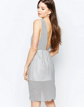 photo Think Twice Dress by Finders Keepers, color Stripe - Image 2