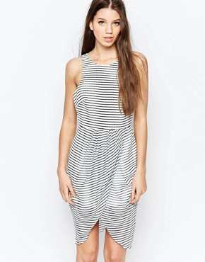 photo Think Twice Dress by Finders Keepers, color Stripe - Image 1