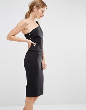 photo Pencil Dress with Back Detail by Finders Keepers, color Black - Image 2