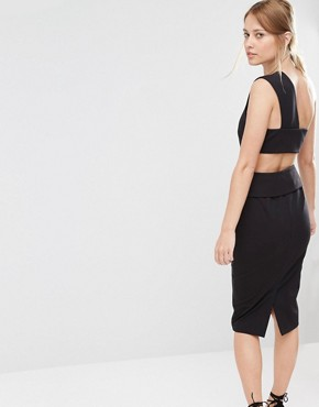 photo Pencil Dress with Back Detail by Finders Keepers, color Black - Image 1
