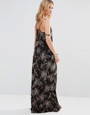 photo Maxi Dress in Forest Print by Style London, color Black - Image 2