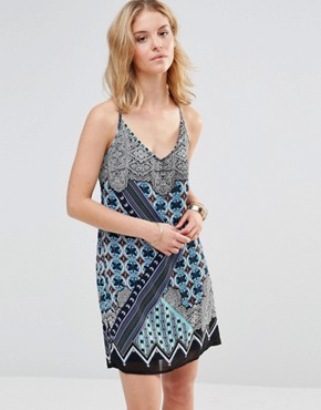 photo Cami Dress in kaleidoscope Print by Style London, color Blue - Image 1