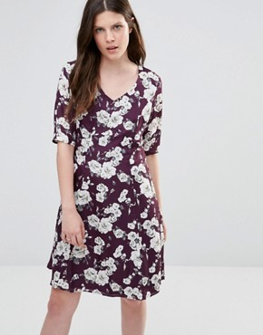 photo Thereasa Rose Tea Dress by Poppy Lux, color Mauve/Grey/White - Image 1