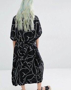 photo Kimono Dress with Print Detail by Weekday, color Multi - Image 2