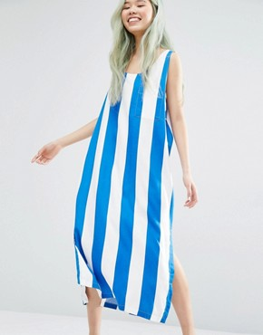 photo Block Stripe Dress with Slits by Weekday, color Multi - Image 1