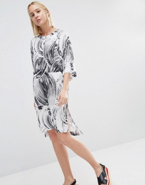 photo T-Shirt Dress with Swirl Print Detail by Weekday, color Multi - Image 1