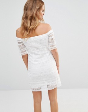 photo Broderie Anglaise Mini Dress by Millie Mackintosh, color White - Image 2