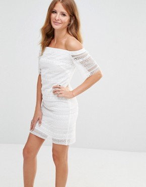 photo Broderie Anglaise Mini Dress by Millie Mackintosh, color White - Image 1