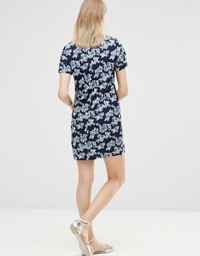 photo Zaria Rose Tunic Dress by Poppy Lux, color Navy - Image 2