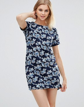 photo Zaria Rose Tunic Dress by Poppy Lux, color Navy - Image 1