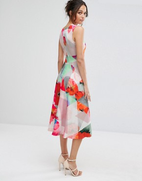 photo Fragmented Poppy Drop Waist Dress by Every Cloud, color Multi Print - Image 2