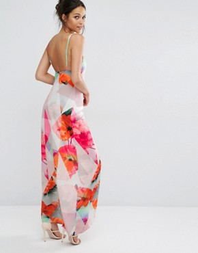 photo Poppy Print Strappy Maxi Dress by Every Cloud, color Multi Print - Image 2