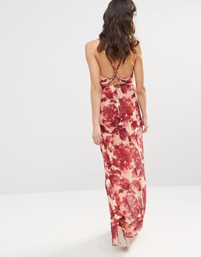 photo Maxi Dress in Wild Rose by For Love and Lemons, color Rosey Floral - Image 2