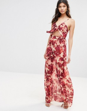 photo Maxi Dress in Wild Rose by For Love and Lemons, color Rosey Floral - Image 1