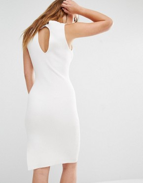 photo Knitted Mini Dress with Keyhole Back Detail by Noisy May Petite, color White - Image 2