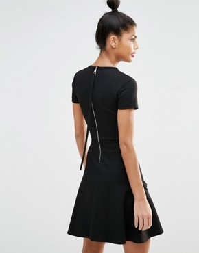 photo Fit and Flare Dress with Frill by Sonia by Sonia Rykiel, color Black - Image 2