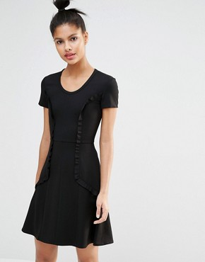 photo Fit and Flare Dress with Frill by Sonia by Sonia Rykiel, color Black - Image 1
