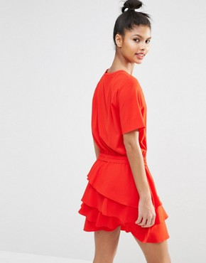 photo Dress with Layered Frill Skirt by Sonia by Sonia Rykiel, color Red - Image 2
