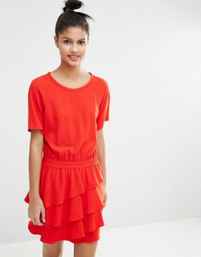 photo Dress with Layered Frill Skirt by Sonia by Sonia Rykiel, color Red - Image 1
