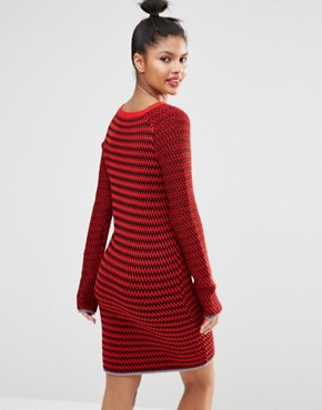 photo Knitted Jumper Dress by Sonia by Sonia Rykiel, color Red - Image 2