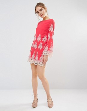Long Sleeve Mini Lace Dress