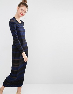 photo Sheet Stripe Maxi Dress by Sonia by Sonia Rykiel, color Multi - Image 1
