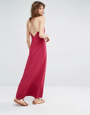 photo Cerena Maxi Dress by Samsoe & Samsoe, color Red - Image 1